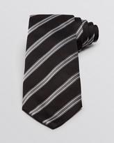 Armani Collezioni Pique and Twill Diagonal Stripe Classic Tie