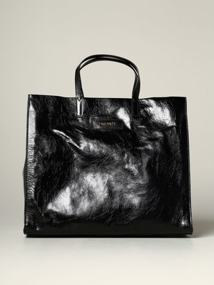 Twin-Set Twin Set Tote Bags Shopping Bag In Laminated Leather