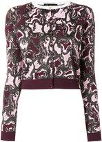 Versace The Wild Side jacquard cardigan - women - Polyamide/Polyester/Viscose/Metallized Polyamide - 40