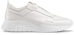 HUGO Running-style trainers in tonal nappa leather and mesh