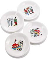Fiesta Twelve Days of Christmas Set of 4 Salad/Dessert Plates, Third Series in a Series of Three