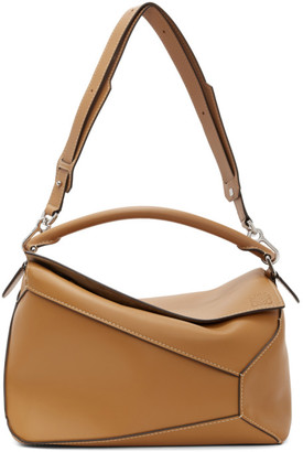 Loewe Brown Large Puzzle Bag