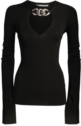 Alexander Wang Chain-Trim V-Neck Top