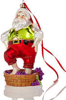 Holiday Lane Glass Wine Country Santa Ornament, Created for Macy's
