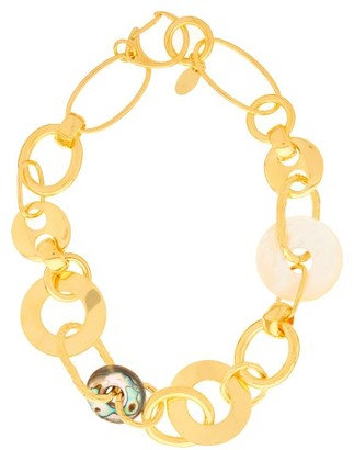 Lizzie Fortunato Solstice Chain-link Gold-plated Necklace - Womens - Gold