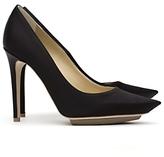 Stella Mccartney Silk Stiletto Pumps: Black