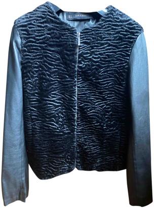 Zara Black Faux fur Jackets