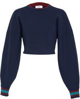Tibi Jacquard Cropped Sweater