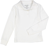 Eddie Bauer White Long-Sleeve Polo - Girls