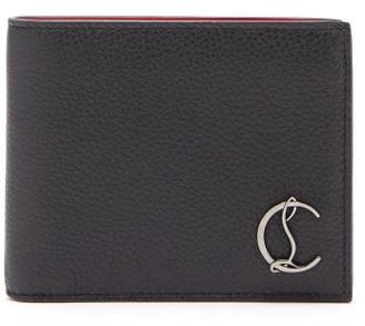 Christian Louboutin Coolcard Monogram-plaque Leather Bi-fold Wallet - Mens - Black
