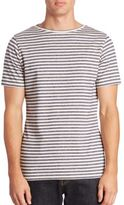 Eleventy Short Sleeve Striped Tee