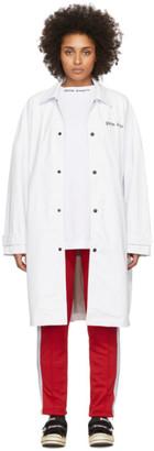 Palm Angels White Logo Over Raincoat