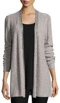 Eileen Fisher Sleek Tencel® Twist Simple Long Cardigan, Silver