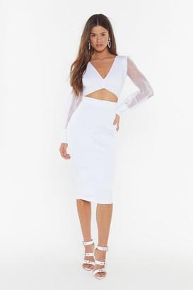 Nasty Gal Womens Sheer Up Organza Midi Dress - White