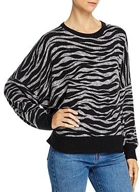 Vintage Havana Cross-Back Zebra Print Sweater