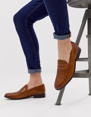 Base London Alto weave loafers in tan