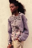 Rebel Yell Take It Easy Crop Sweatshirt in Heather Slate