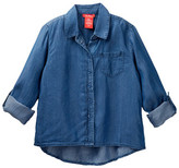 Joe Fresh Hi-Lo Chambray Shirt (Little Girls & Big Girls)