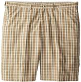 Haggar Men's Big-Tall Cool 18 Expandable Waist Plaid Windowpane Short