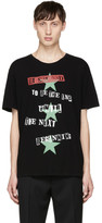 Valentino Black Jamie Reid Edition the Next Beginning T-shirt