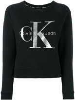 Calvin Klein Jeans metallic logo sweatshirt - women - Cotton - M