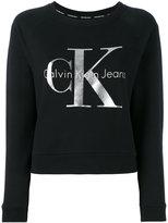 Calvin Klein Jeans metallic logo sweatshirt - women - Cotton - XS