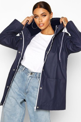 boohoo Rubberised Rain Mac