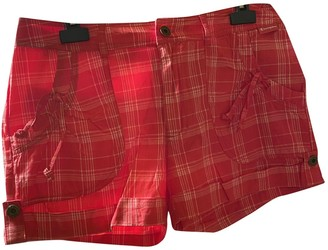 Champion Red Cotton Shorts