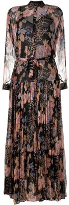 Mes Demoiselles Floral-Print Long-Sleeved Maxi Dress