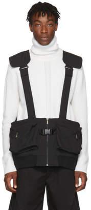 D.gnak By Kang.d Black Suspender Pocket Vest