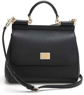 Dolce & Gabbana 'Small Miss Sicily' Leather Satchel - Black