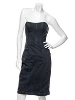 Imitation Denim Marilyn Bustier Dress