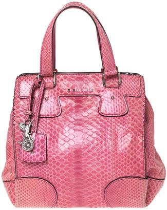 Celine Pink Python Convertible Satchel