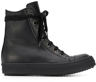 Rick Owens Lace-Up High Top Sneakers