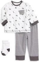 Little Me Infant Boy's Safari T-Shirt, Jogger Pants & Socks Set