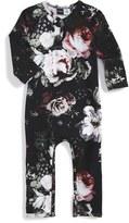 Molo Infant Girl's 'Fiona' Rose Print Long Sleeve Romper