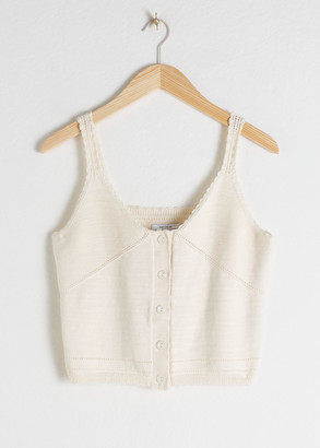 And other stories Cotton Crochet Tank Top