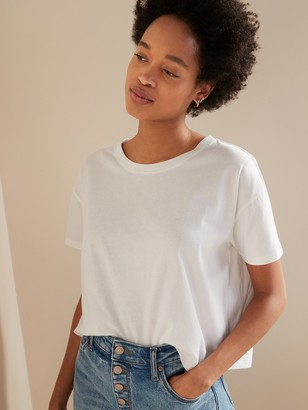 Old Navy Loose-Fit Short-Sleeve Crop Tee for Women