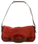 Sergio Rossi Suede & Leather Satchel
