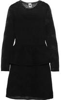 M Missoni Open-Knit Peplum Dress