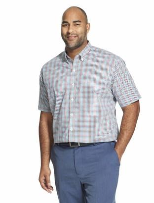 Van Heusen Men's Tall Flex Short Sleeve Button Down Tattersal Shirt