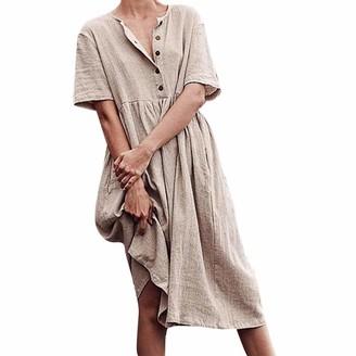 Zerototens Women Dress Summer Linen Dresses