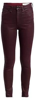 Rag & Bone Women's Nina High-Rise Coated Ankle Skinny Jeans