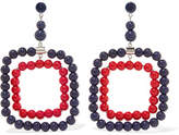 Marni Silver-tone Beaded Earrings - Red