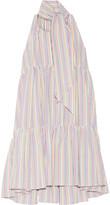 Lisa Marie Fernandez Tiered striped seersucker mini dress