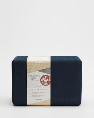 Manduka Blue Yoga Accessories - Recycled Foam Yoga Block - Size One Size at The Iconic