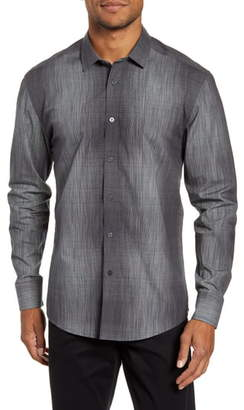 Vince Camuto Slim Fit Abstract Check Button-Up Shirt