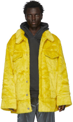 Landlord Yellow Faux-Fur Jacket