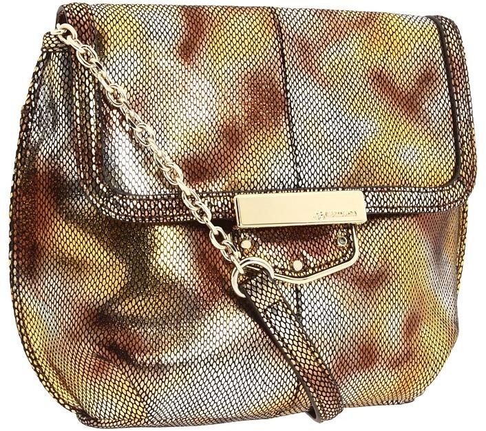 B. Makowsky Lombard Mini Bag (Gold) - Bags and Luggage