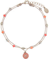 Accessorize Layered Bead & Disc Anklet